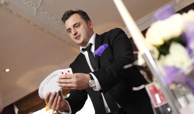 Ever seen a magician at a wedding?