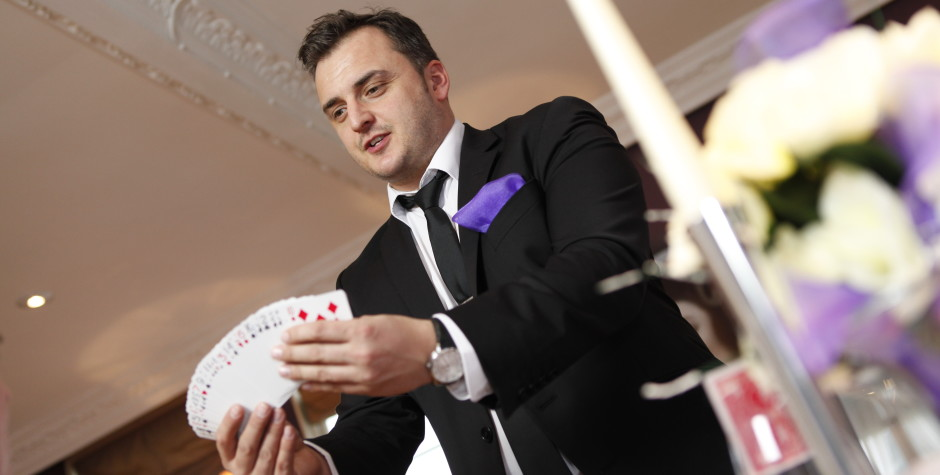 Ever seen a magician at a wedding?